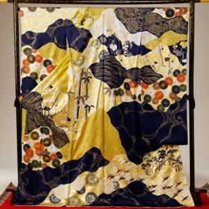 吉澤織物さんの手描き友禅